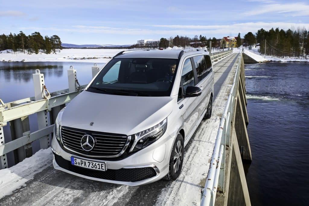 Mercedes-Benz EQV世界初純電豪華MPV極寒測試,為2020下半年上市暖身!