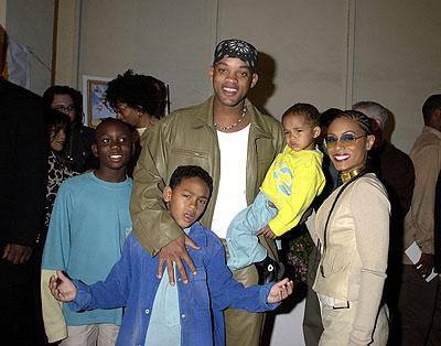 Will Smith and Jada Pinkett Smith and the brood at the Hollywood premiere of Fox Searchlight's Kingdom Come