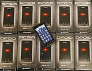 Motorola's Droid smartphone is displayed in 2009. The judge in the landmark Apple-Samsung case set a December 6 hearing on punitive damages to the US firm for patent infringement and on whether to ban eight Samsung phones in the US market