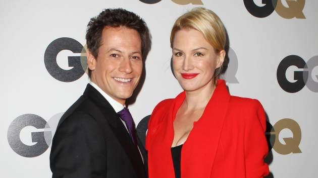 Ioan Gruffudd and Alice Evans arrive at the 16th Annual GQ 'Men Of The Year' Party at Chateau Marmont on November 17, 2011 -- Getty Premium