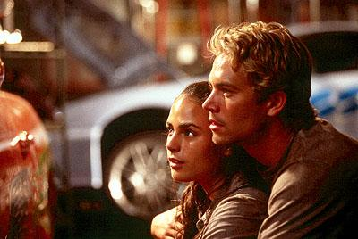 Jordana Brewster and Paul Walker in Universal's The Fast and The Furious