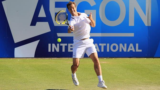 Tennis - Gasquet shows grasscourt pedigree at Eastbourne
