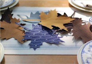 fabric leaves handmade