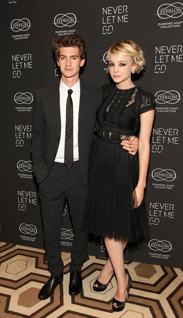 Never Let Me Go NY Premiere 2010 Andrew Garfield Carey Mulligan