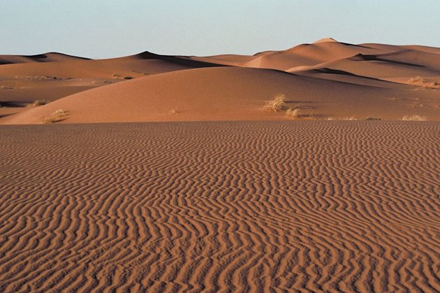 View of the desert in Saudi Arabia