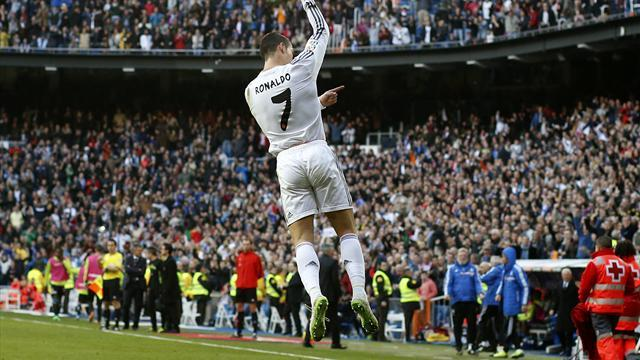 Liga - Ronaldo puts Real Madrid top, Villarreal and Sevilla lose