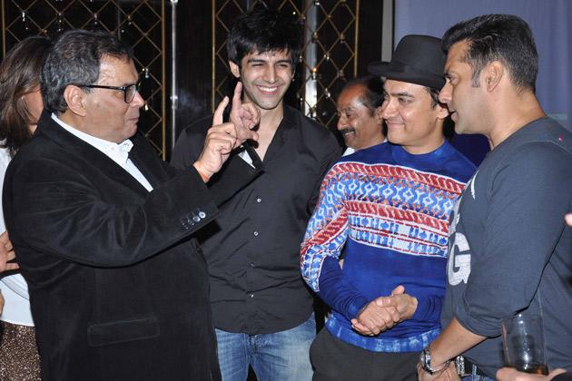 Aamir, Salman at Ghai's birthday bash