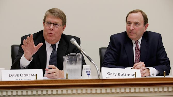 NHL Commissioner Gary Bettman Attends Briefing Of The Congressional Hockey Caucus