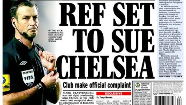 Premier League - Paper Round: Clattenburg to sue Chelsea