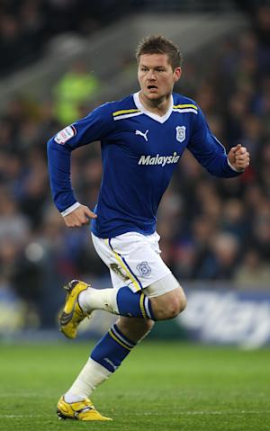 Ben Nugent and Aron Gunnarsson, pictured, ere on target for Cardiff