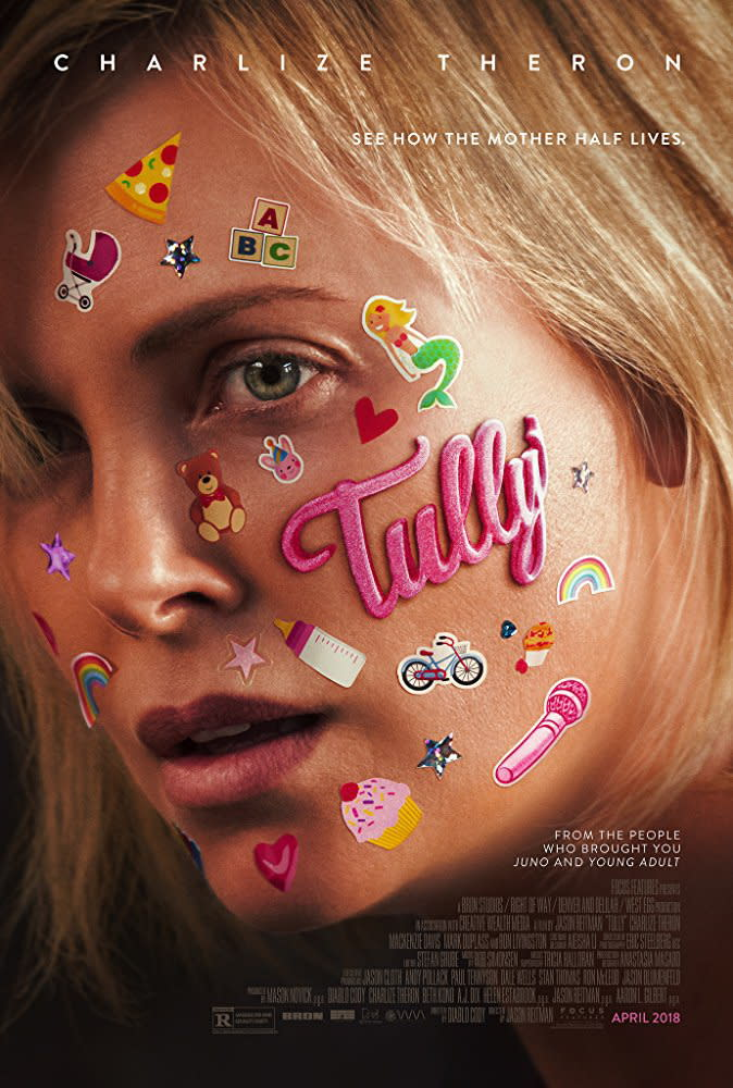 <p>八、《塔莉(暫譯)》Tully:百變影后莎莉賽隆這次不再飛車耍狠,在最新主演電影《塔莉》中增胖十五公斤,挑戰演出三個小孩的媽媽,並與一名意外現身家中的保姆之間,結下了趣味橫生又真誠動人的情誼。《塔莉》是由《鴻孕當頭》編導搭檔再度攜手合作,也被影評封為《鴻孕當頭》續集,可望再現清新動人的家庭劇碼,令人充滿期待。(圖/《塔莉》官方海報) </p>