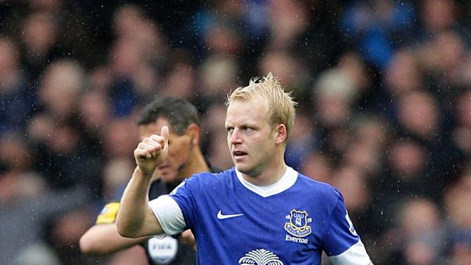 Steven Naismith hit his first goal for Everton in the 2-2 draw with Liverpool