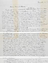 In a 1954 handwritten letter, Albert Einstein reveals his thoughts on God and religion. The original letter is going up for auction Oct. 8, 2012.