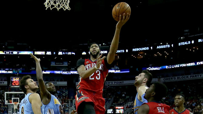 Davis has 50 points and 16 rebounds as Pelicans lose