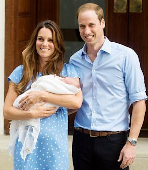 Kate Middleton, Prince William Presented With Celebratory Scroll in Honor of Prince George's Birth