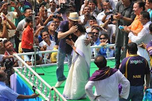 SRK and Mamata, Kolkata, May 29, 2012