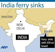 A ferry with some 250 passengers on board has sunk in a river in the Indian state of Assam