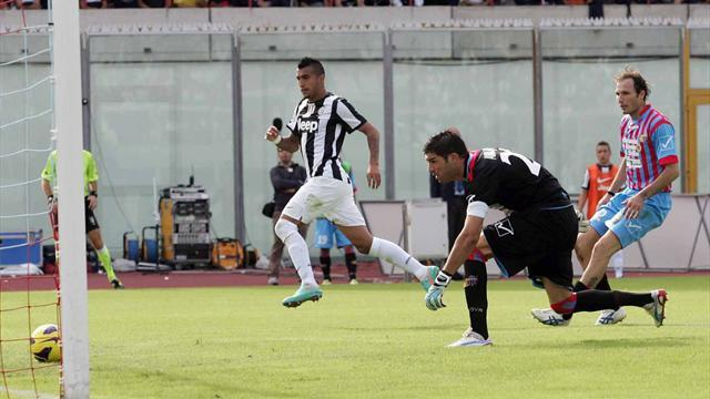 Serie A - Juventus seal controversial victory at Catania