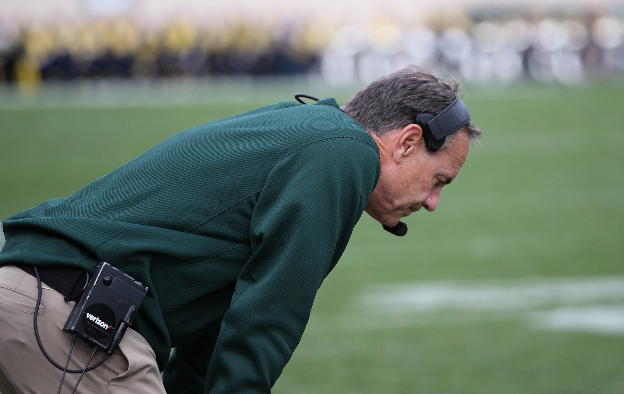 Mark Dantonio is suffering his first losing season at Michigan State since 2009. (Getty Images)
