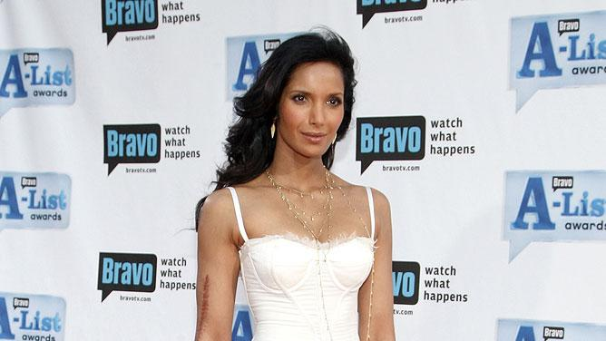Padma Lakshmi arrives at Bravo's 2nd annual A-List Awards held at the Orpheum Theater on April 5, 2009 in Los Angeles, California.