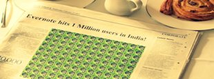 Evernote Reaches One Million Users In India image evernote has one million users india