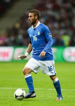 Daniele De Rossi in action for Italy during Euro 2012