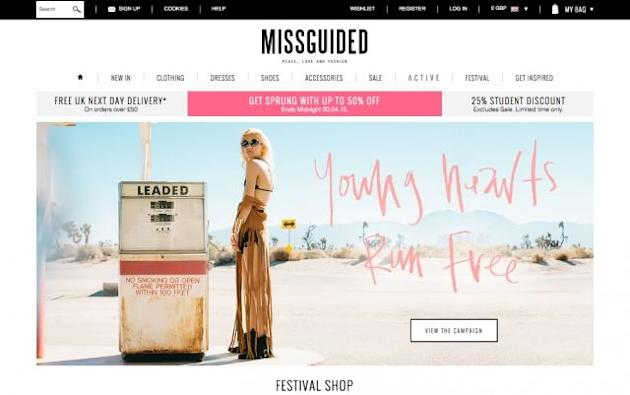 Missguided is the latest fashion e-tailer coming to a physical store near you