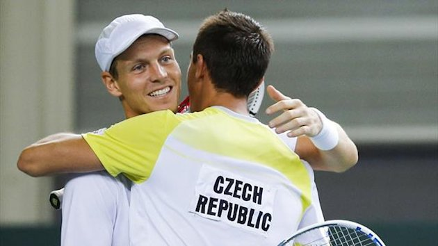 Tomas Berdych and Lukas Rosol for Czech Republic (Reuters)