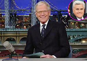 """David Letterman Congratulates Jay Leno For 22 """"Wonderful"""" Years at The Tonight Show"""