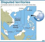 Map showing the disputed Paracel and Spratly islands in the South China Sea. China has appointed military officers at a newly-established garrison in the South China Sea, the country's latest step to bolster claims to disputed islands in the area