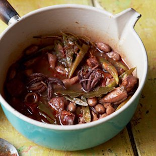 Beans with Squid & Chorizo: Food: New Recipe: Redonline