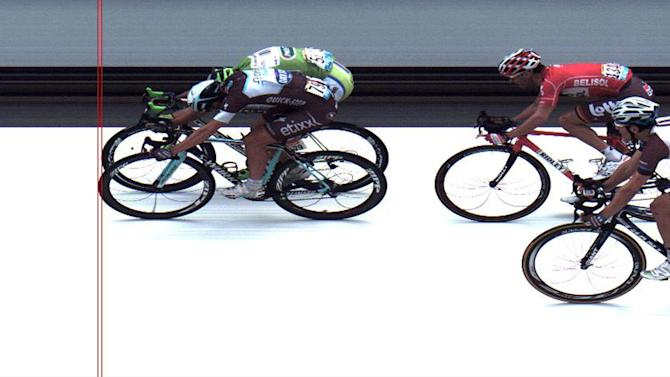 Tour de France - Trentin edges Sagan by a nose on another day of crashes