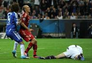 Chelsea's Czech goalkeeper Petr Cech (R) stops a penalty from Bayern Munich's Dutch midfielder Arjen Robben (2nd L) during the Champions League final at the Alliance Arena in Munich on May 19. Chelsea beat Bayern Munich 4-3 on penalties after the game finished 1-1 after extra-time