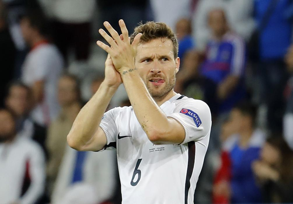 France's Yohan Cabaye at the end of the match