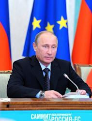 Russia's President Vladimir Putin attends the EU-Russia summit in the industrial Ural mountains city of Yekaterinburg, on June 4, 2013