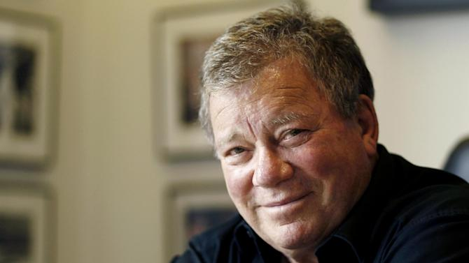 """FILE - This Jan. 30, 2012 file photo shows actor William Shatner in Los Angeles. Shatner will guest star in a live episode of """"Hot in Cleveland,"""" on Wednesday, June 19, 2013 airing on the TV Land channel. (AP Photo/Matt Sayles, file)"""