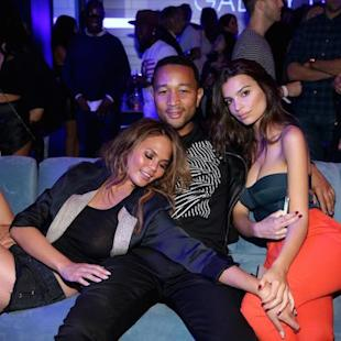 Party Report in Pictures: Emily Ratajkowski Cozies Up to Chrissy Teigen and John Legend (Photos)