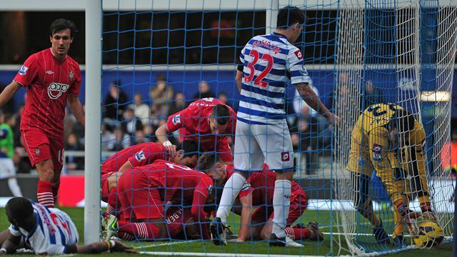 Premier League - Hughes woe continues as QPR lose to Southampton