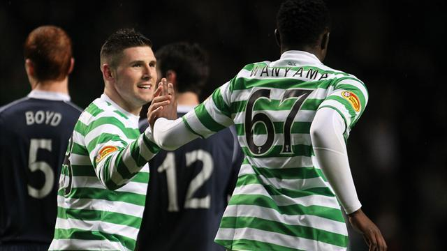 Scottish Football - Hooper double helps Celtic move five points clear