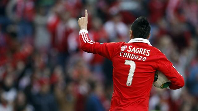 European Football - Cardozo treble helps Benfica to Cup win over Sporting