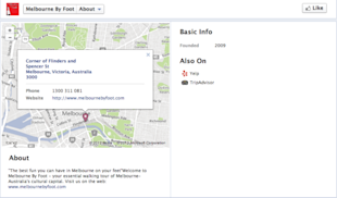 How Tour and Activity Operators Should Use Facebook for Business image facebook about melbourne by foot resized 600