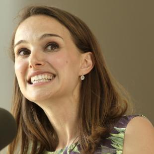 Actress Natalie Portman addresses an audience during Harvard College's Class Day, Wednesday, May 27, 2015, on the campus of Harvard University, in Cambridge, Mass. Portman, a 2003 Harvard graduate, was the 2015 Class Day speaker for Harvard College. (AP Photo/Steven Senne)