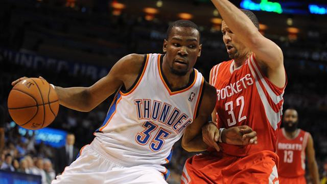 Basketball - Durant and Thunder down Rockets