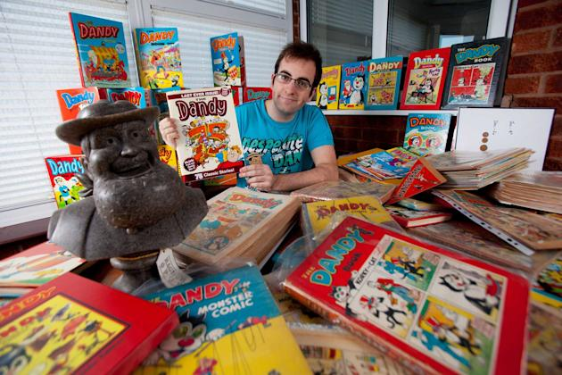 Collection: Adam has bought over 2,000 Dandy comics (SWNS)