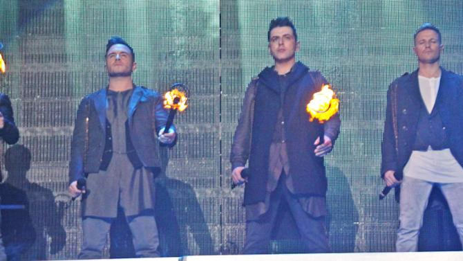 Westlife at their final concert in Liverpool, UK