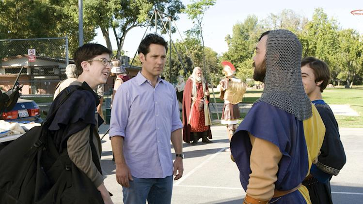 Christopher Mintz-Plasse Paul Rudd Role Models Production Stills Universal 2008