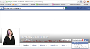 How To View Your Facebook Profile As Someone Else (Or As The Public Does) image facebook profile view as 1 550x304