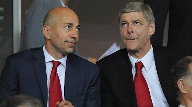 Arsenal chief executive Ivan Gazidis and manager Arsene Wenger