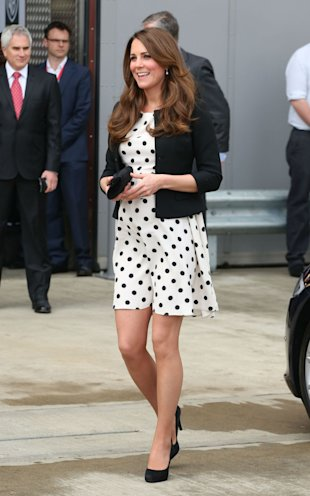 Kate Middleton 39 S Polka Dot Dress Sells Out In An Hour