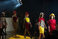 Models present creations by Alexandre Herchcovitch during the Sao Paulo Fashion Week in Brazil on June 11. The event kicked off with some 30 Brazilian labels set to showcase their summer collections with the focus on sustainable design